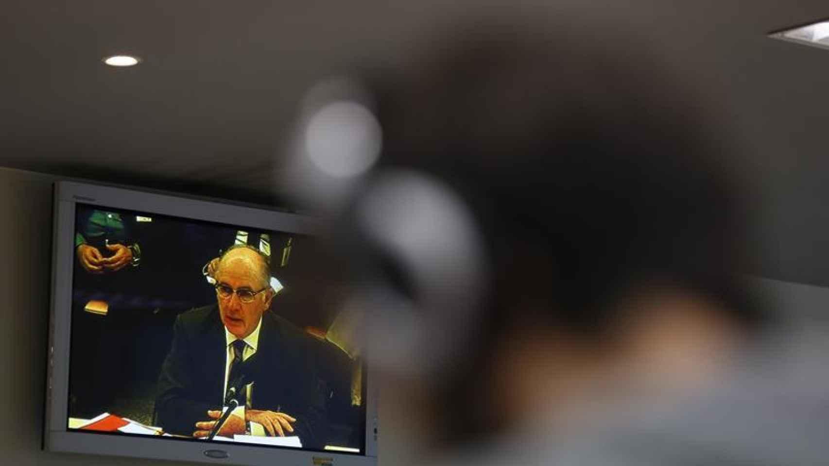 El ex presidente de Caja Madrid Rodrigo Rato durante su declaración