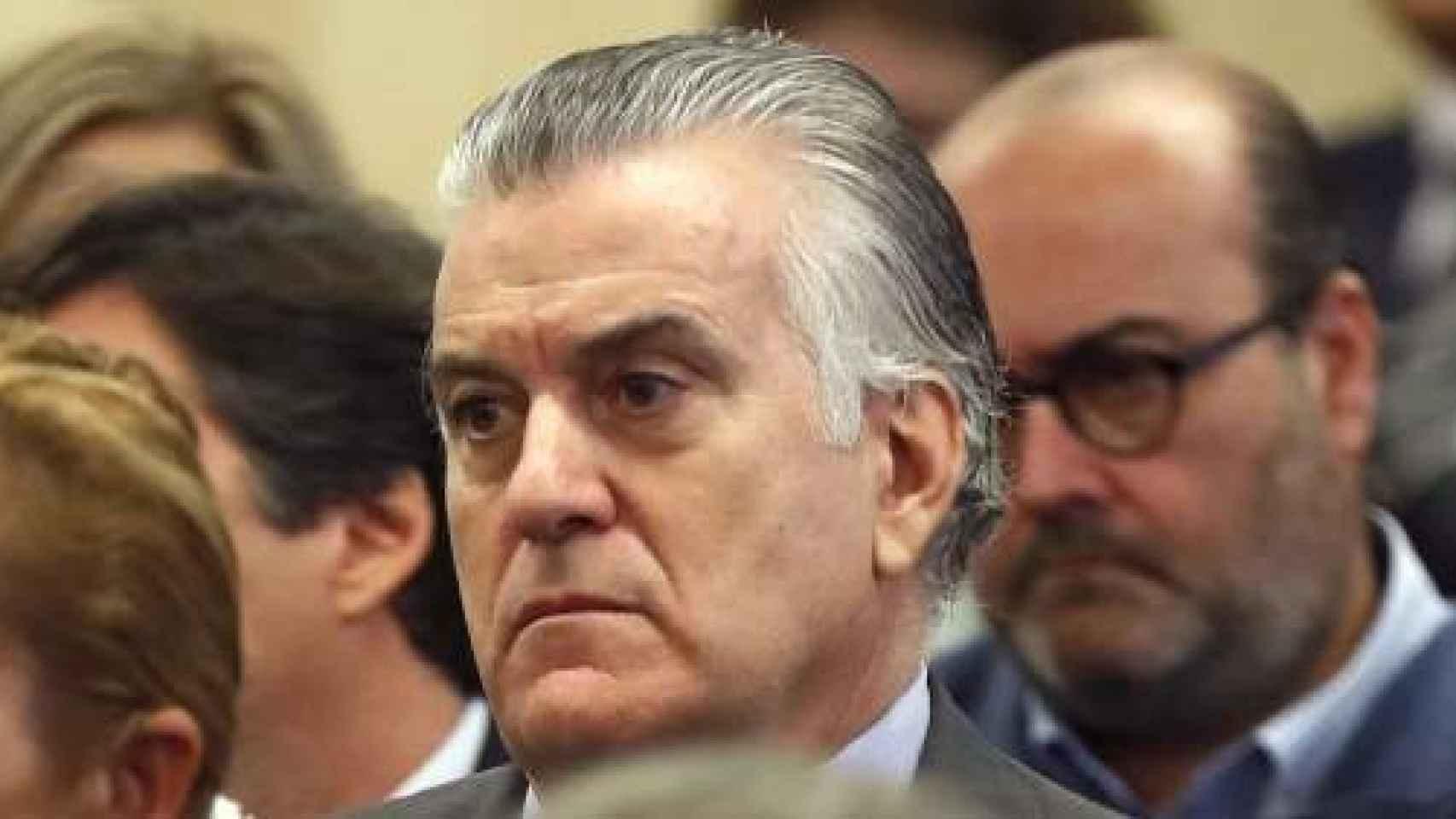 Luis Bárcenas, en el banquillo de los acusados en el juicio del 'caso Bárcenas'.