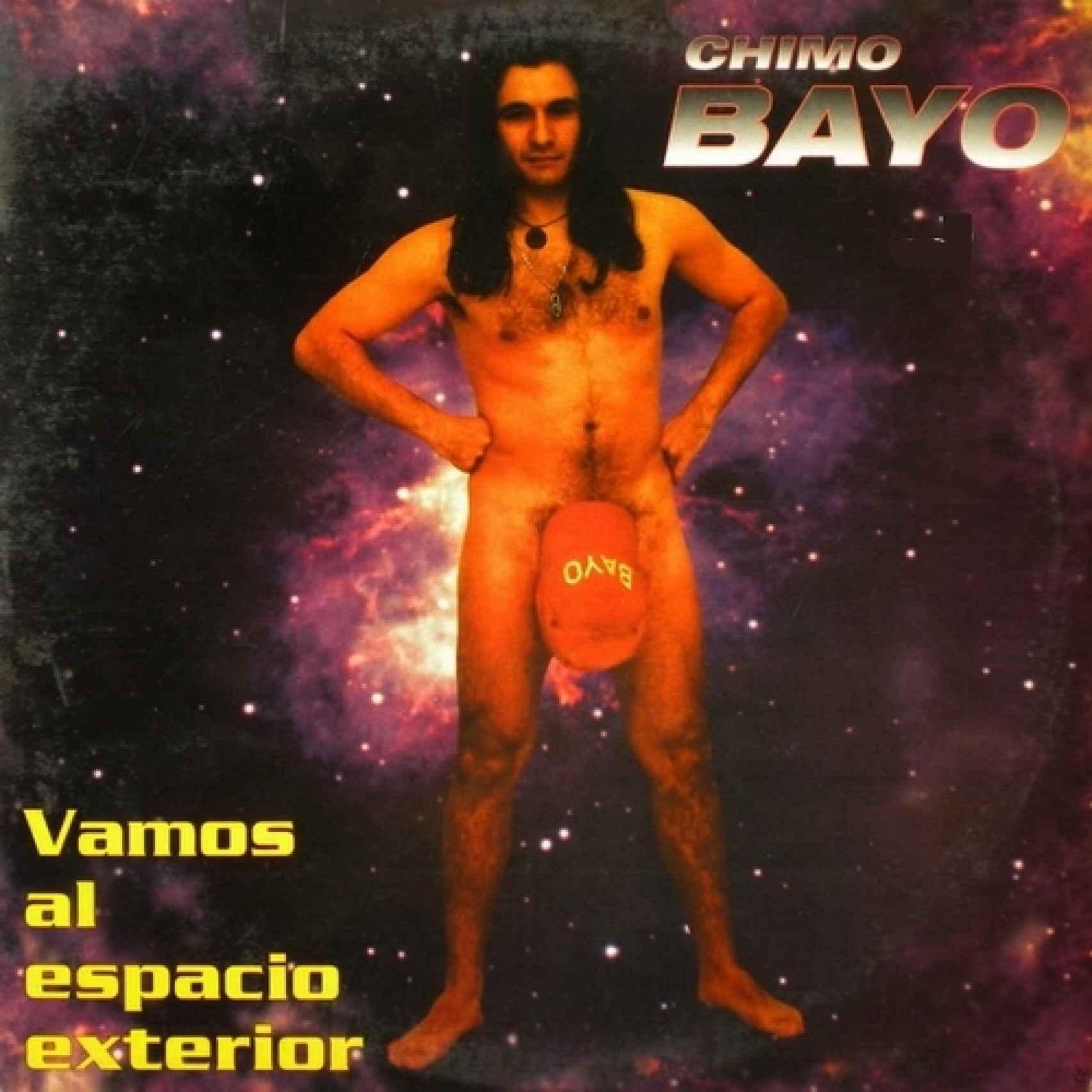 Portada del disco de Chimo Bayo Vamos al espacio exterior.
