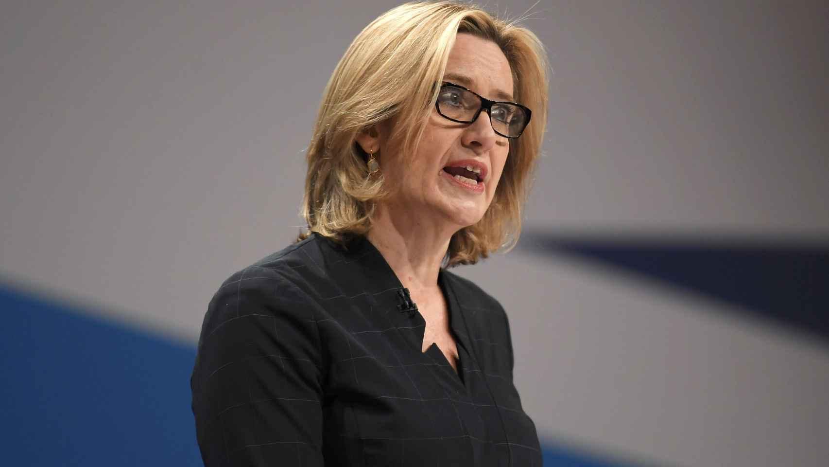 Amber Rudd, ministra de Interior de Reino Unido.