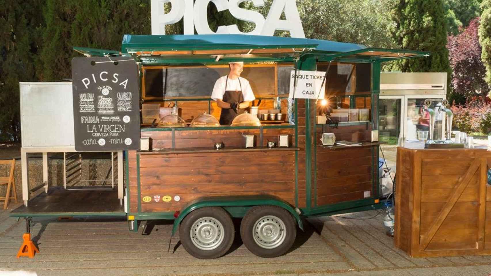 La cocina fusión de Picsa se vuelve itinerante en esta gastroneta.