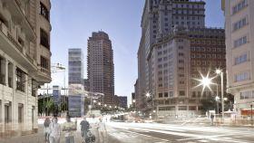 Uno de los setenta proyectos presentados para reformar Plaza de España.