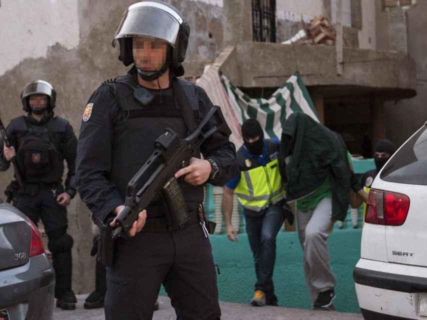Operación policial contra una red yihadista en la Ciudad Autónoma de Melilla.