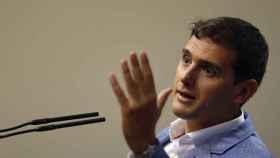 Albert Rivera, en una rueda de prensa en el Congreso de los Diputados.
