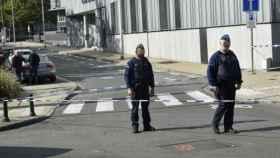 Agentes cerca del lugar del ataque