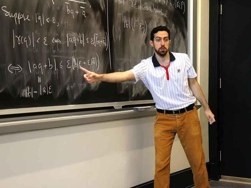 Casals, dando clase en el MIT.
