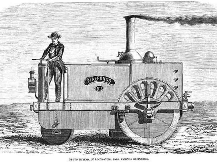 El locomóvil Castilla de 1861.