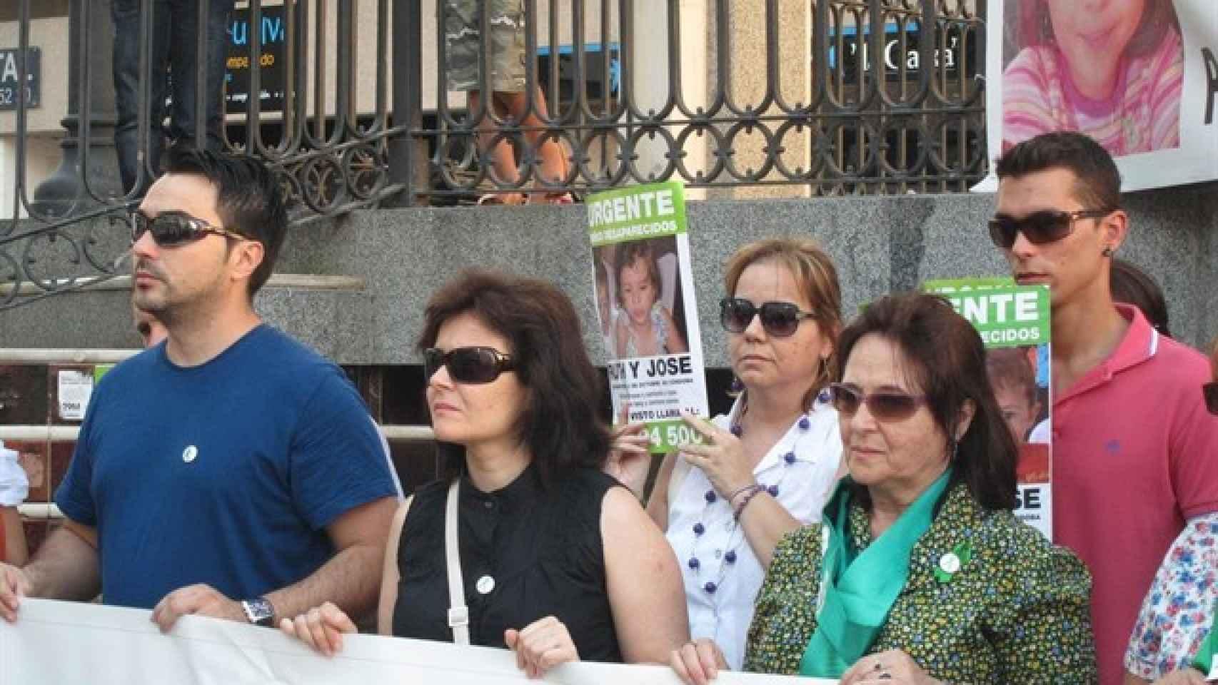 Ruth Ortiz, en una de las protestas durante el juicio a su ex marido.