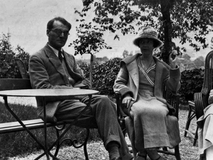 John Middleton Murry y Katherine Mansfield en 1922.
