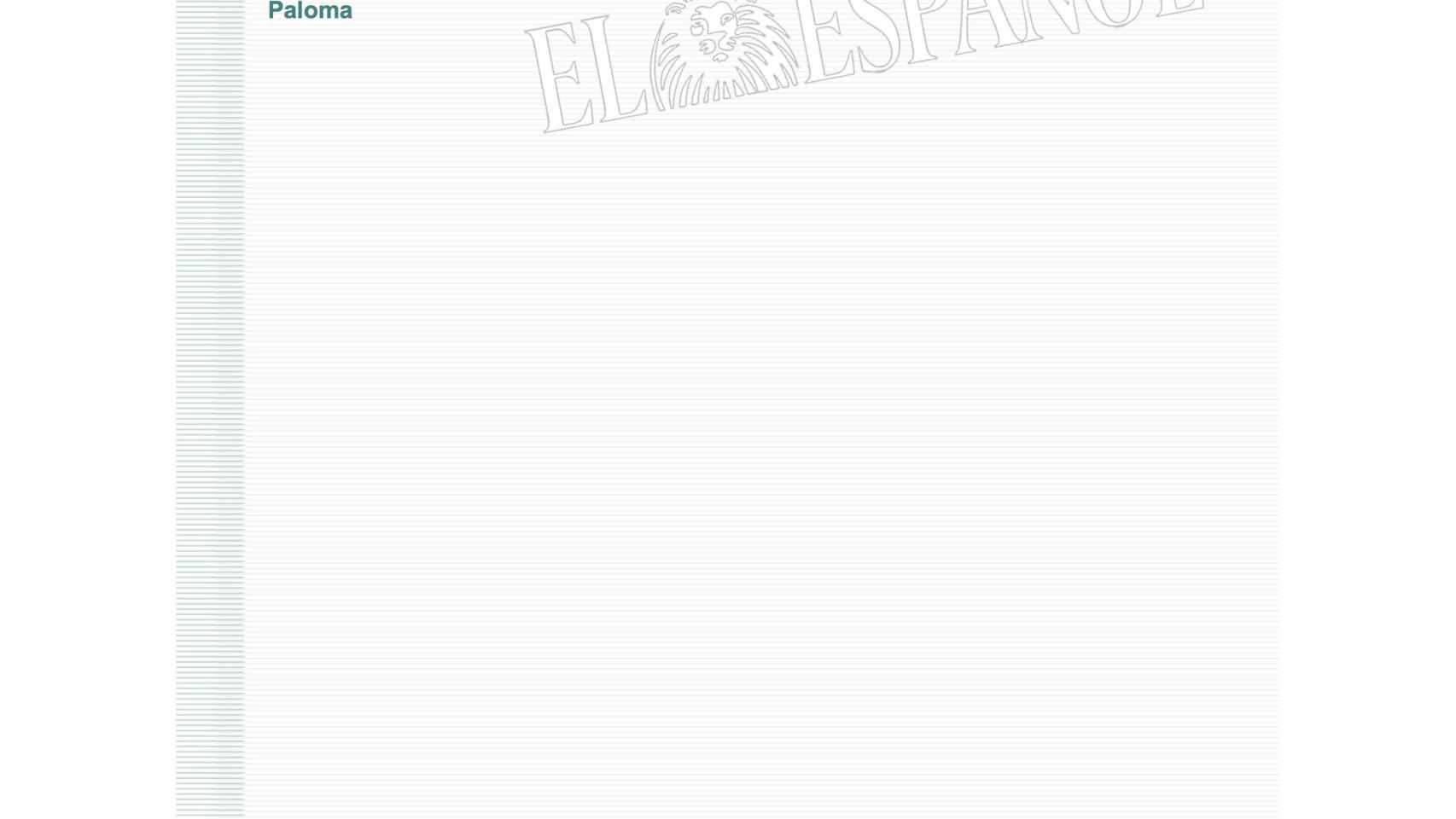 Correo electrónico entre los directivos de AENA