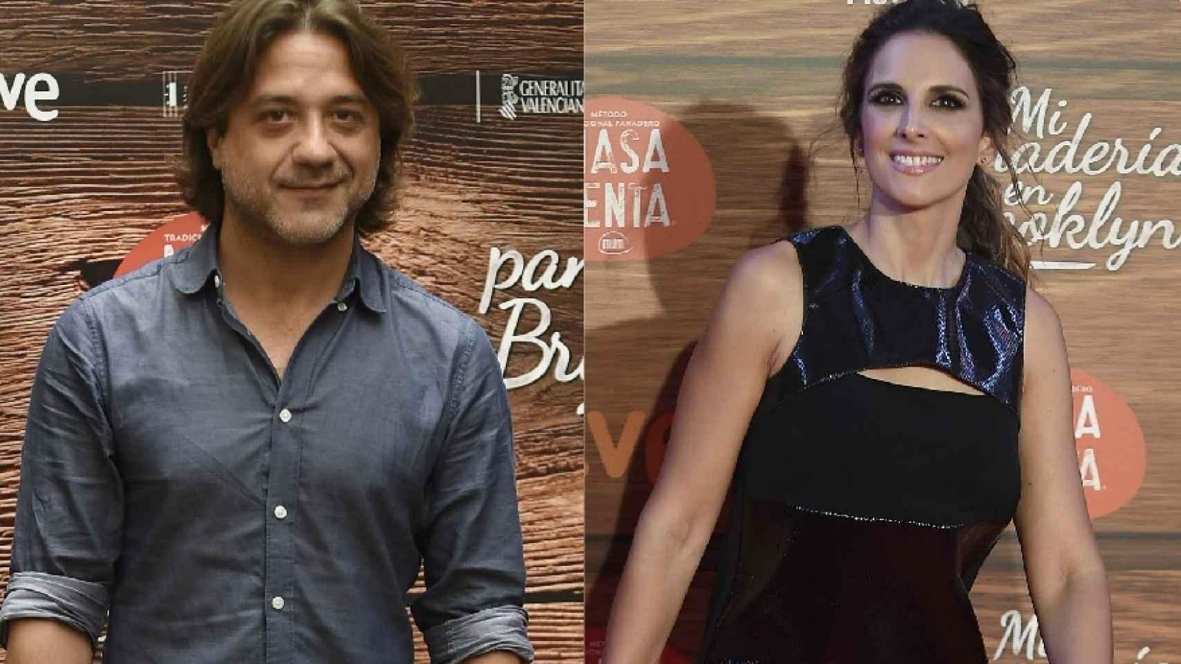 Enrique Arce y Nuria Fergó, durante un estreno hace unas semanas.