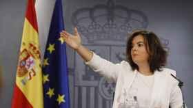Saénz de Santamaría en la rueda de prensa del Consejo de Ministros de este viernes
