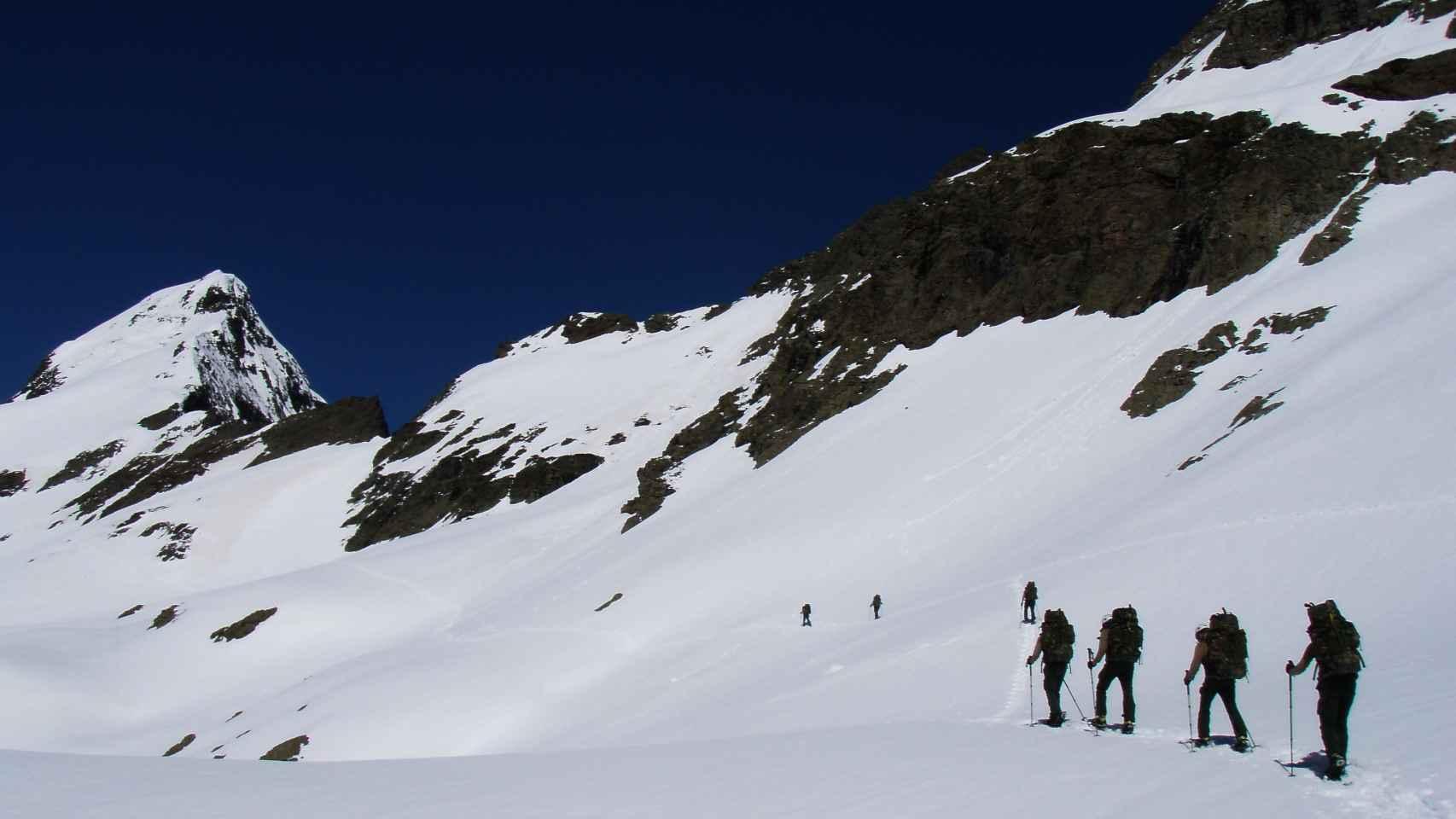 Las prácticas de los integrantes de la Campaña Antártica en Benasque.