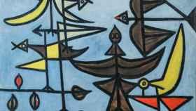 'Pájaros' (1947), de Óscar Domínguez. Óleo sobre lienzo.