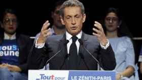 Sarkozy, durante un mitin.