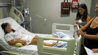 La pequeña de ocho años agredida durante su ingreso en el hospital