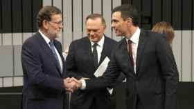 Mariano Rajoy y Pedro Sánchez en el debate a cuatro.