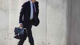 López Madrid a su llegada este lunes a la Audiencia Nacional
