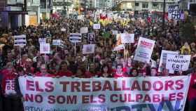 Manifestación en Valencia en septiembre de 2013 por el cierre de Canal Nou.