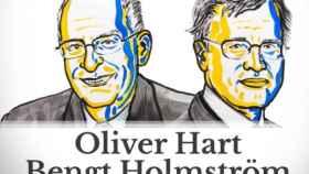 Oliver Hart y Berngt Holmström ganan el Nobel de Economía de 2016.