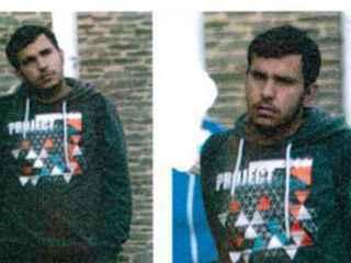 Imagen del refugiado fugado, acusado de terrorismo.