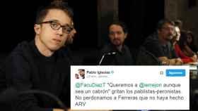 El tuit bromista de Pablo Iglesias dirigido a Íñigo Errejón.