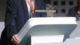 Ángel María Villar, durante la Asamblea General Extraordinaria de la RFEF.