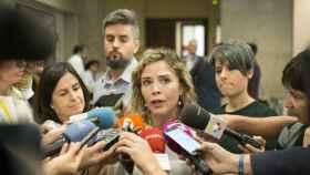 La diputada de C's Marta Martín tras presentar la PNL contra el acoso escolar