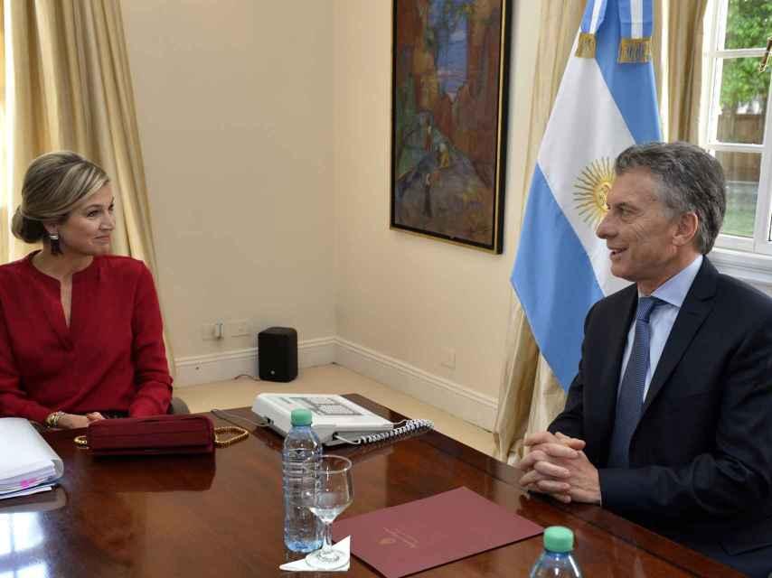 Macri y Máxima, durante su reunión.