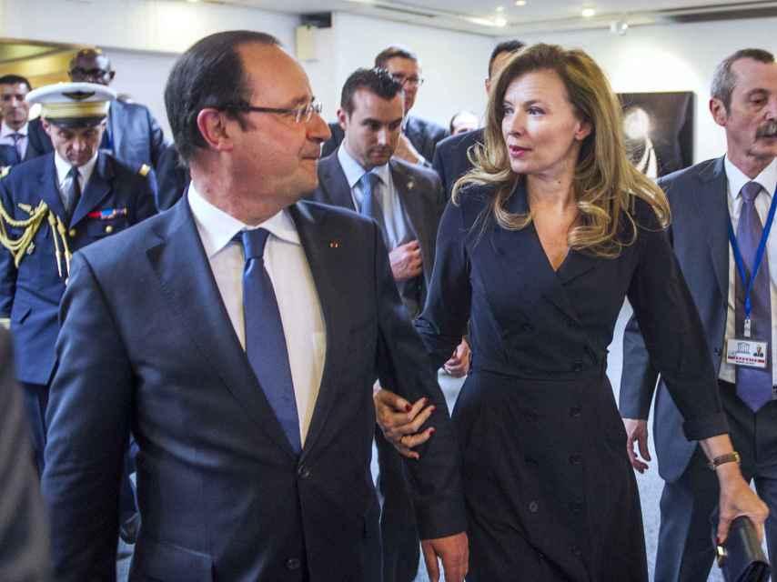 Hollande y Trierweiler, cuando aún eran pareja.