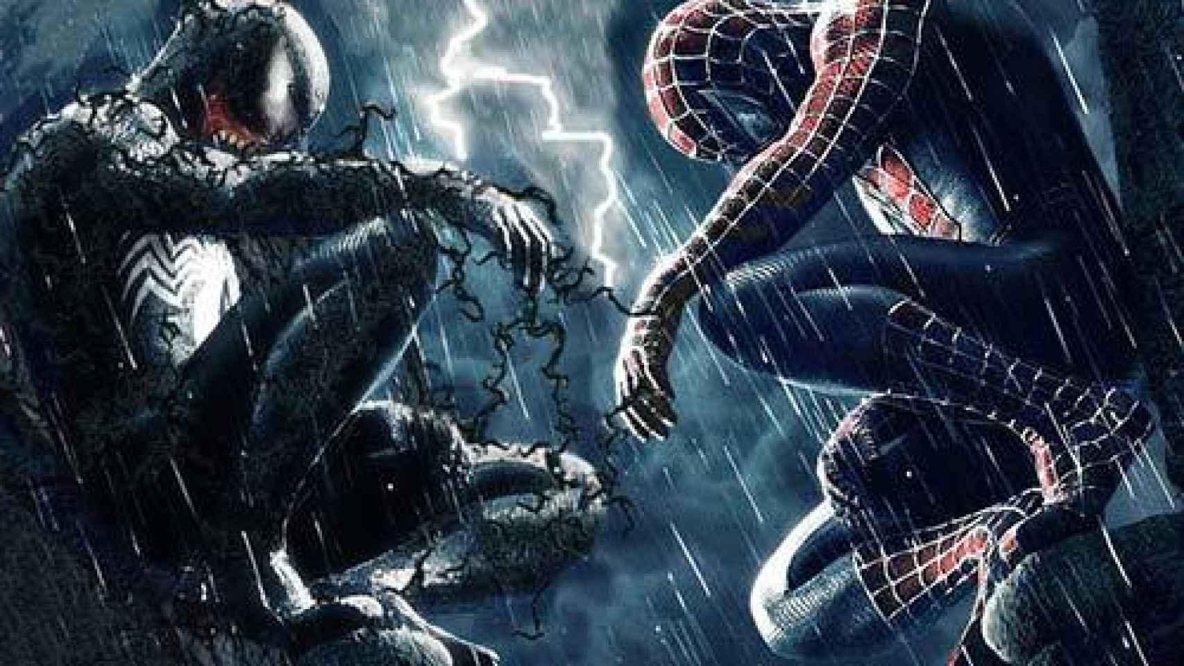 El maligno Venom frente a Spiderman.