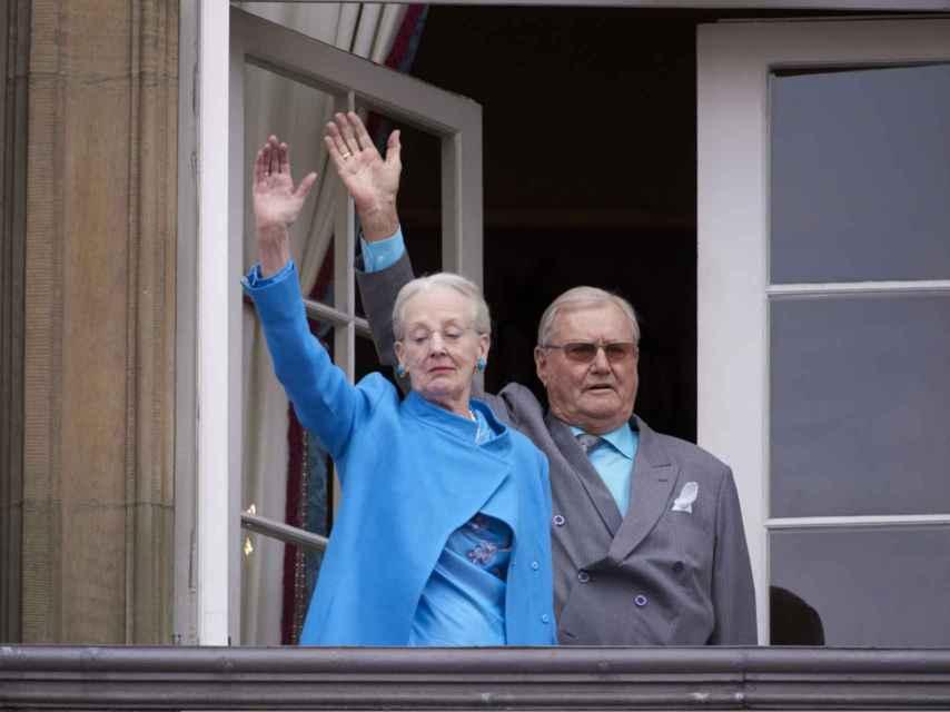 La reina Margarita de Dinamarca y su esposo Enrique, ya jubilado.