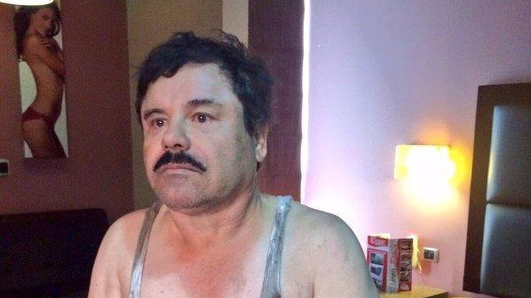 El 'Chapo' Guzmán en el momento de su detención.
