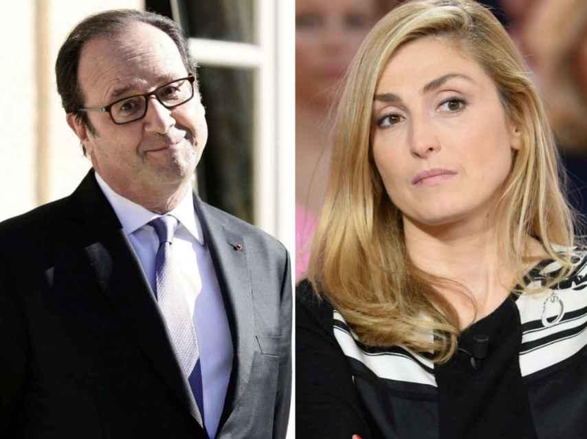Hollande y Gayet, en un montaje hecho por El Español.