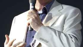 El dramaturgo Dario Fo, en uno de sus últimos actos.