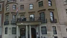 Imagen de la fachada de la embajada de Irak en Nueva York.