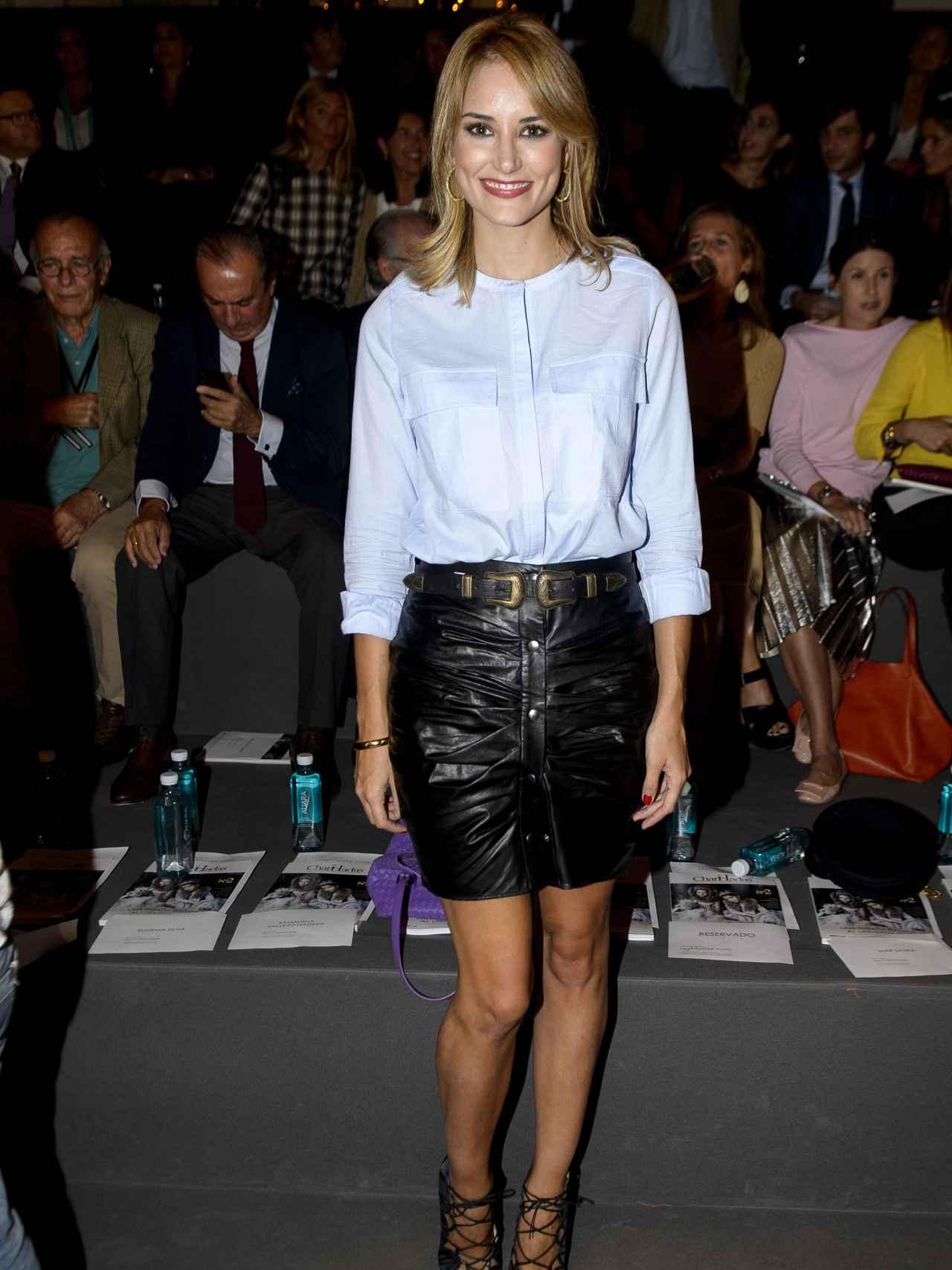 La modelo Alba Carrillo durante la 3 edición del Salón de Moda Infantil The Petite Fashion Week en Madrid