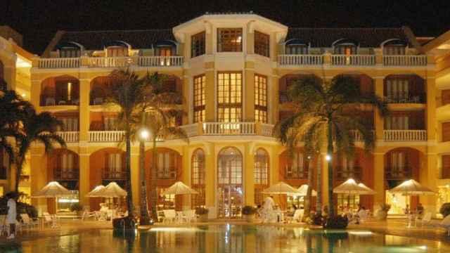 Vista del hotel Santa Clara en Cartagena de indias.
