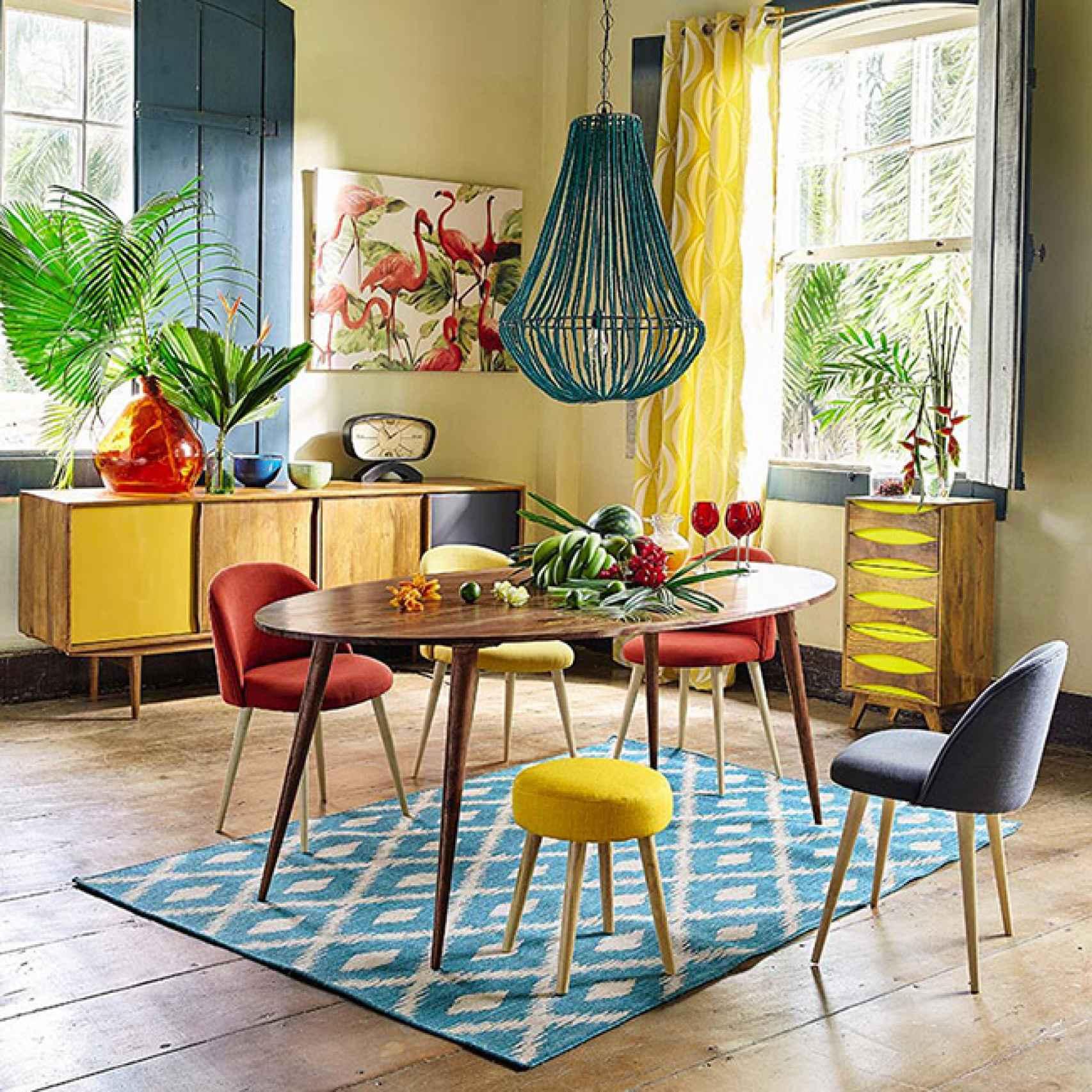 El color amarillo da energía y el rojo abre el apetito. Foto: Maisons du Monde.