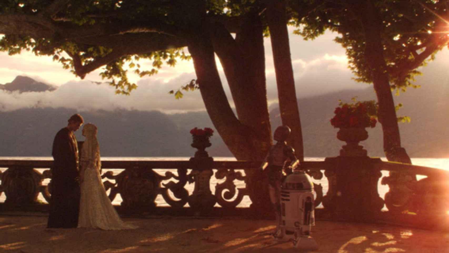 Escena de la saga Star Wars, rodada en una terraza de la Villa del Balbianello.