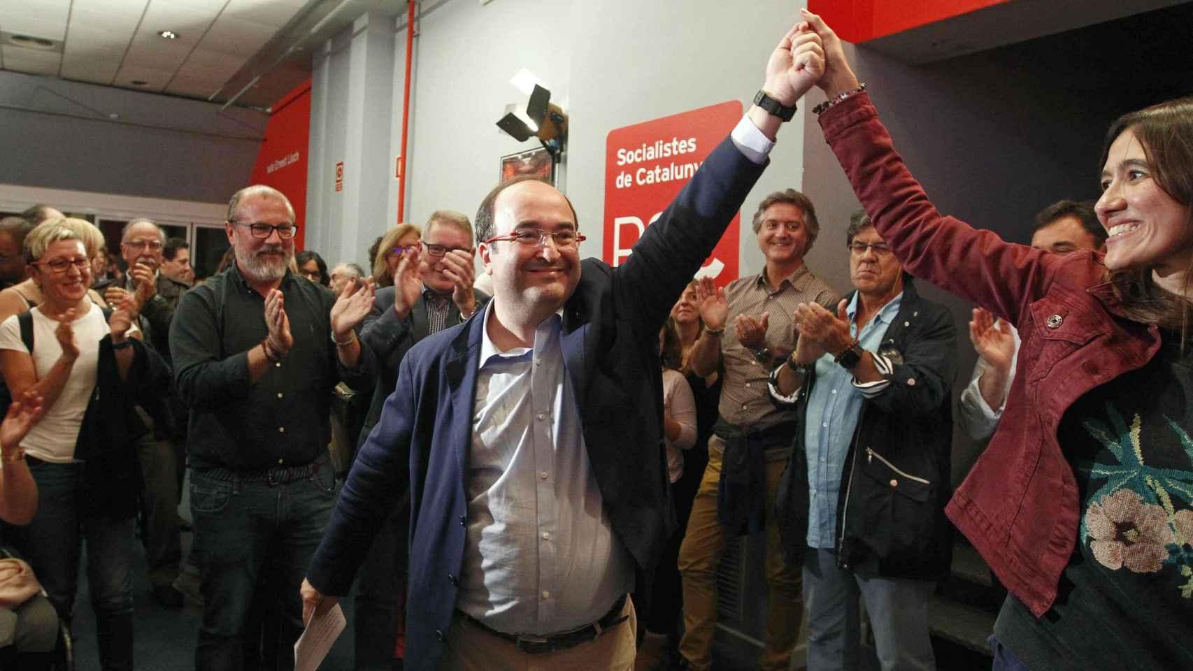 Miquel Iceta, tras ser primer secretario del PSC en las elecciones primarias del partido.