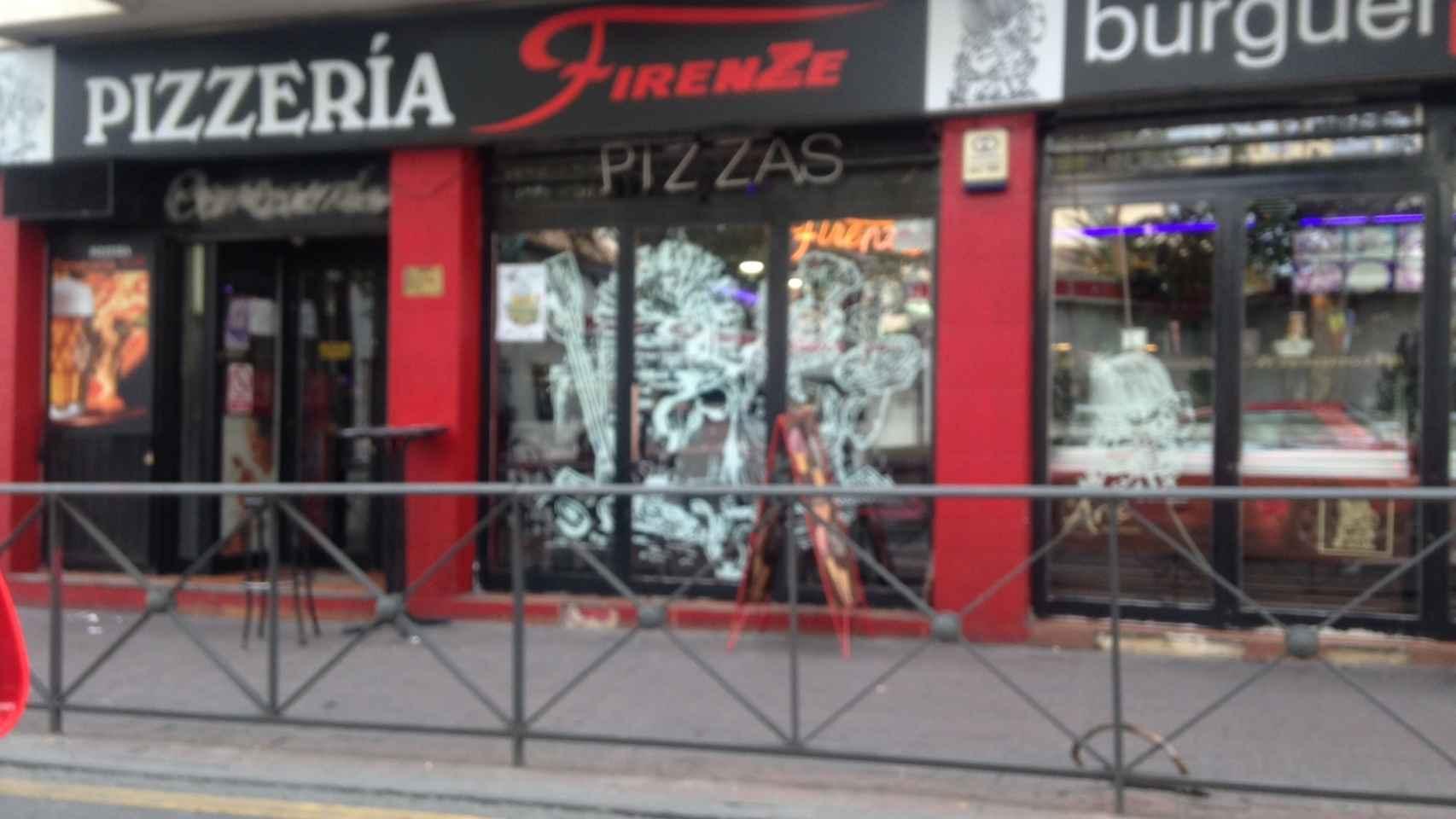 Imagen de la cafetería-pizzería donde trabaja Bea 'La Legionaria'