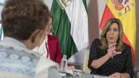 Díaz, en una reunión en Sevilla la semana pasada.