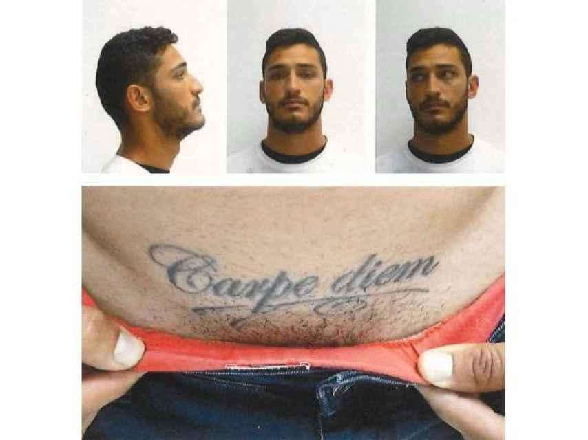 Las imágenes tomadas tras la detención de uno de los acusados.