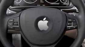 Volante del Apple Car en un concepto.