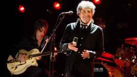 El Nobel Bob Dylan en un concierto en Londres, en 2004.