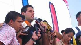 Yon Goicoechea en el cierre de la campaña del no a la reforma constitucional de 2007.