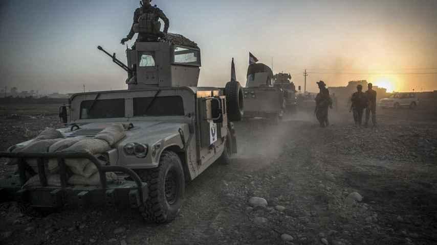 Despliegue de las fuerzas locales en Mosul.