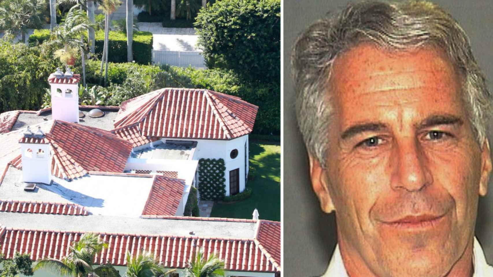 Epstein y su mansión en Florida.
