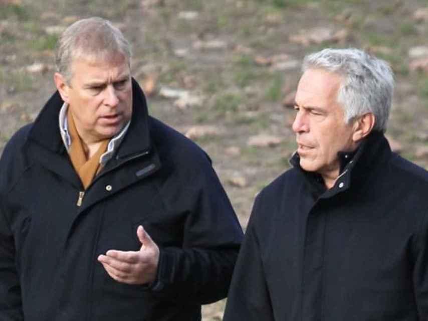 Epstein con el príncipe Andrés.